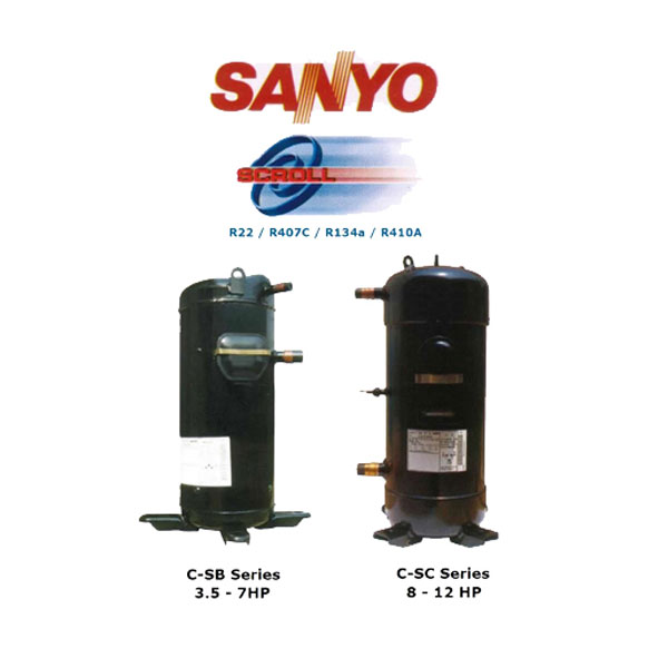 SANYO 3-15HP Scroll Compressor